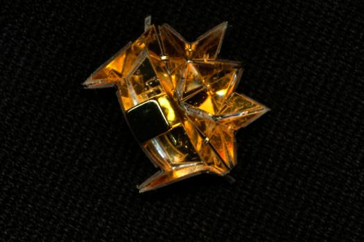 The MIT researchers' centimeter-long origami robot