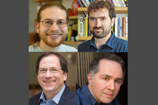 Clockwise from top left: MIT professors Erik Demaine, Fredo Durand, Daniel Jackson, and William Freeman.