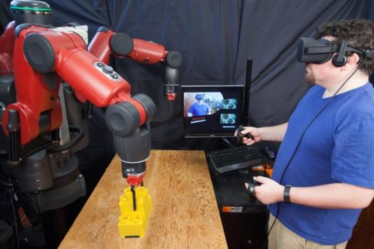 Image result for VR lets users control robots from miles away