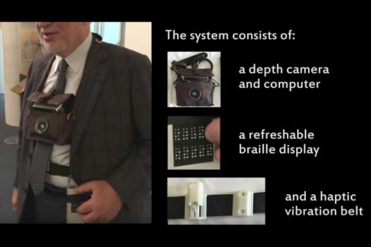 New algorithms power a prototype system for helping visually impaired users avoid obstacles and identify objects.
