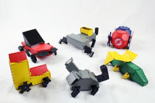 Interactive Robogami enables the fabrication of a wide range of robot designs.