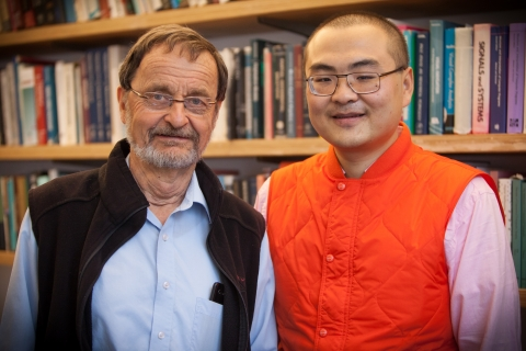 Professor Berthold Horn and postdoctoral associate Liang Wang