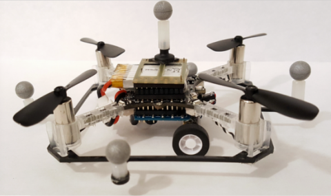 CSAIL team's system of quadcopters that fly and drive suggest another approach to developing flying cars.