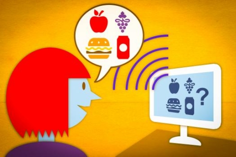 A prototype of a new speech-controlled nutrition-logging system allows users to verbally describe the contents of a meal. The system then parses the description and automatically retrieves the pertinent nutritional data.